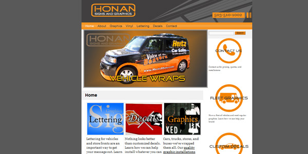 Honan Signs Old Website
